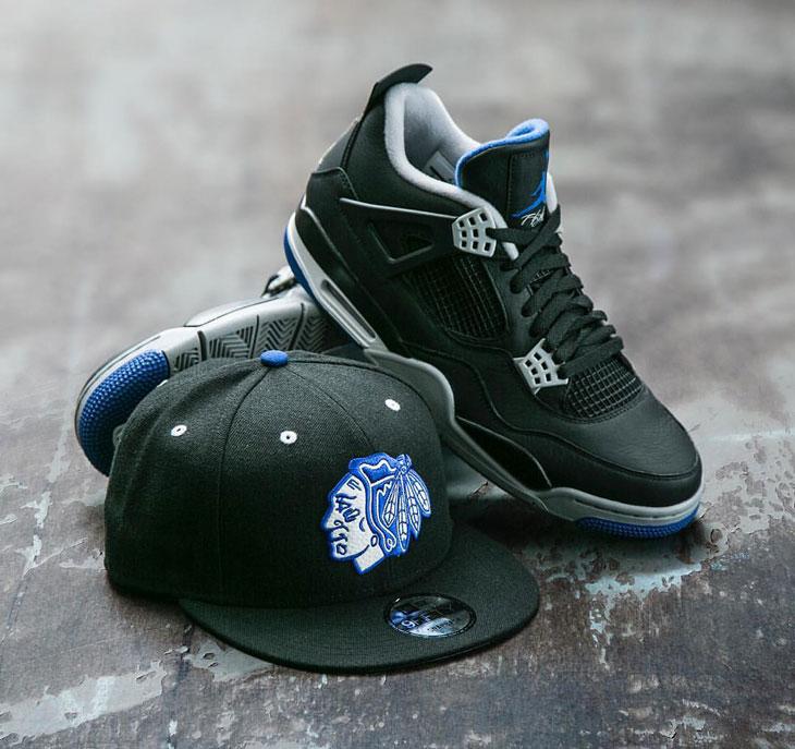 1669e986e6a17b Jordan 4 Alternate Motorsport Chicago Hat Sneaker Match
