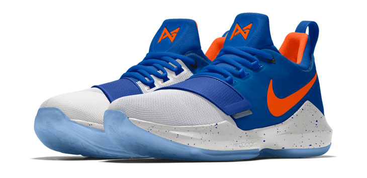 179f75424920 Along with Paul George s trade to Oklahoma City comes a few new  Thunder-inspired PG 1 colorways that are now available to customize on  NIKEiD.