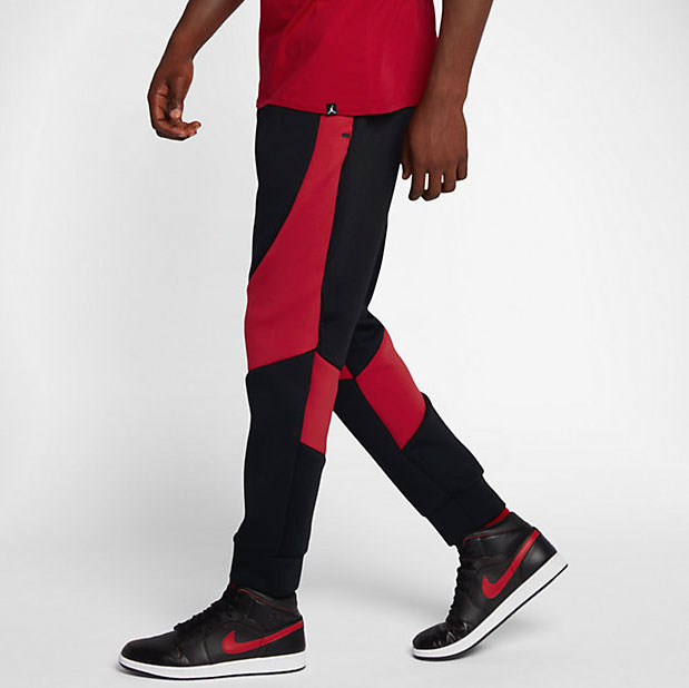 f3e95e4f0adb Jordan Sportswear Flight Tech Pants Black Gym Red