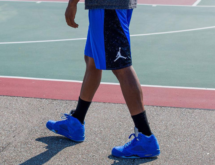 Air Jordan 5 Blue Suede Shorts