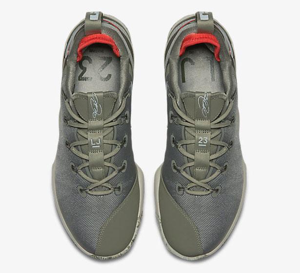 07b04cfa380f8 Nike LeBron 14 Low Military Dark Stucco