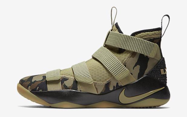 3bb5c2c7c85 Nike LeBron Soldier 11 Olive Camo Gum