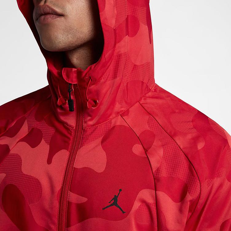 798c545620 Jordan Sportswear Wings Camo Packable Windbreaker (Gym Red). jordan-11-win- like-96-red-camo-jacket-