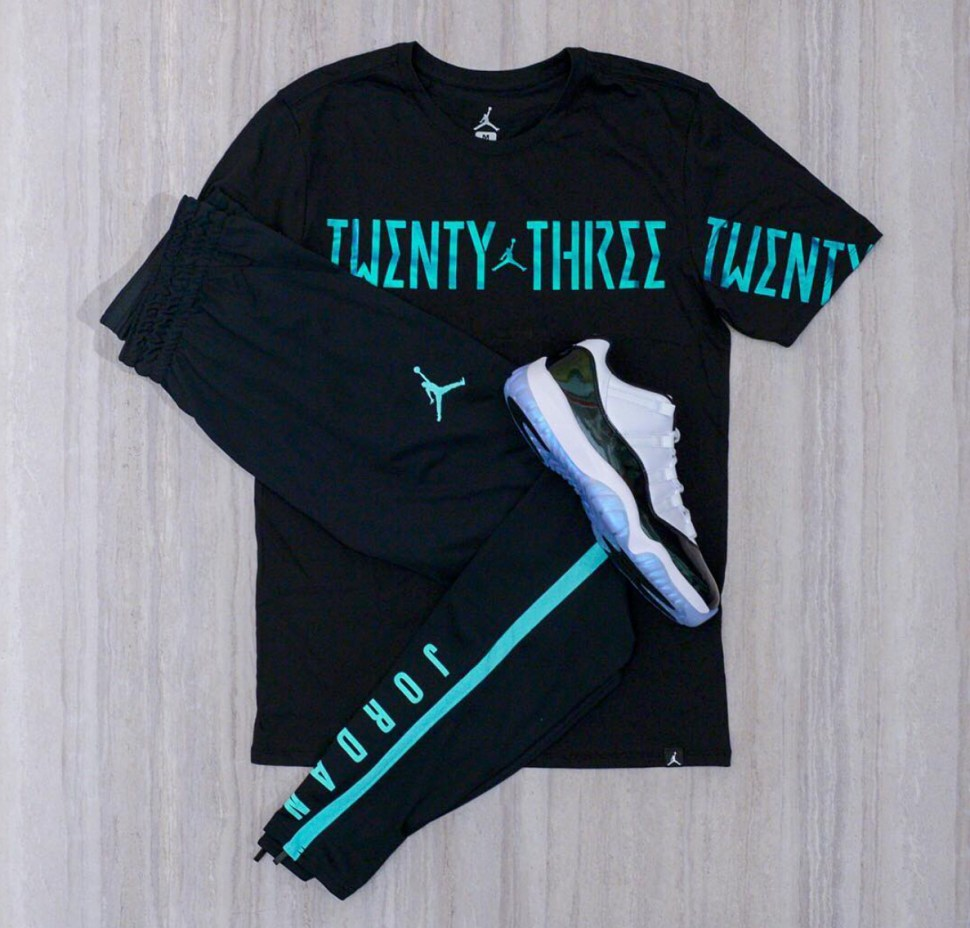 Air Jordan 11 Low Easter Shirt And Pants T Emerald