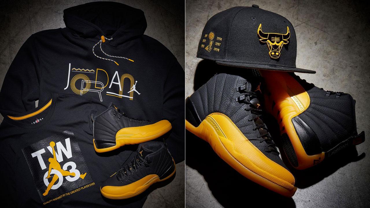 Jordan 12 University Gold Shirt Hat Match Sportfits Com