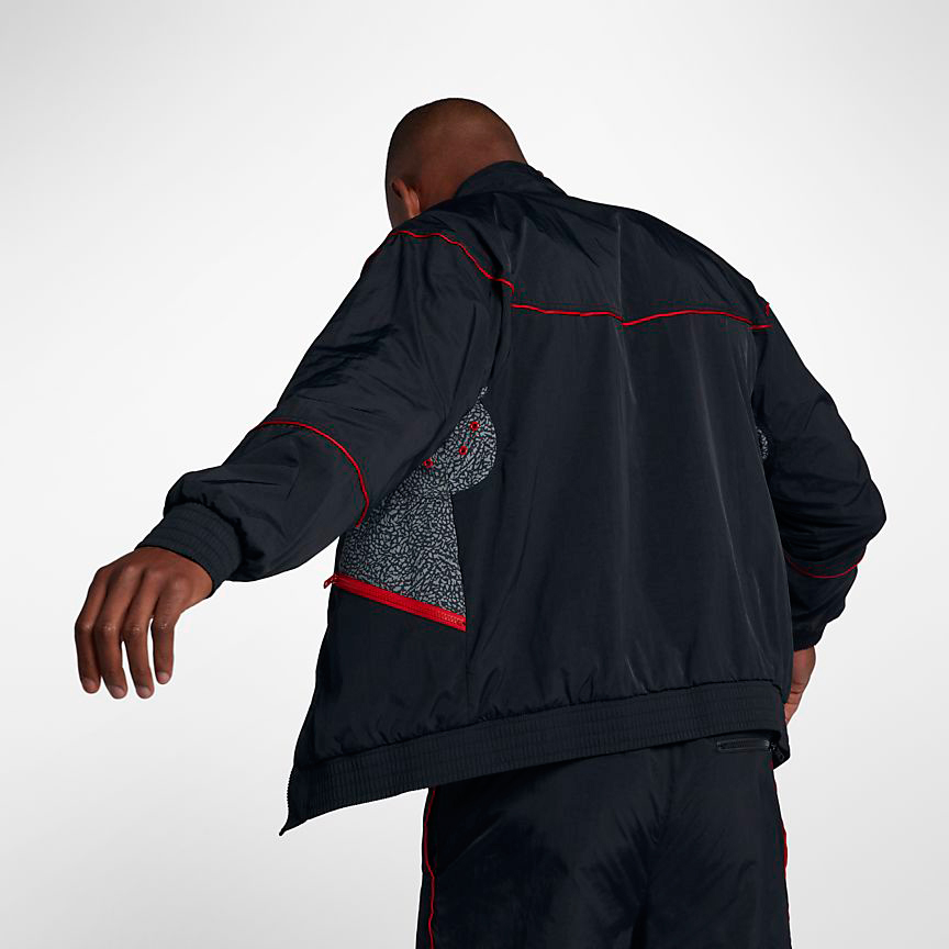 5383761f939fdc Jordan Retro 3 Black Cement Warm Up Jacket
