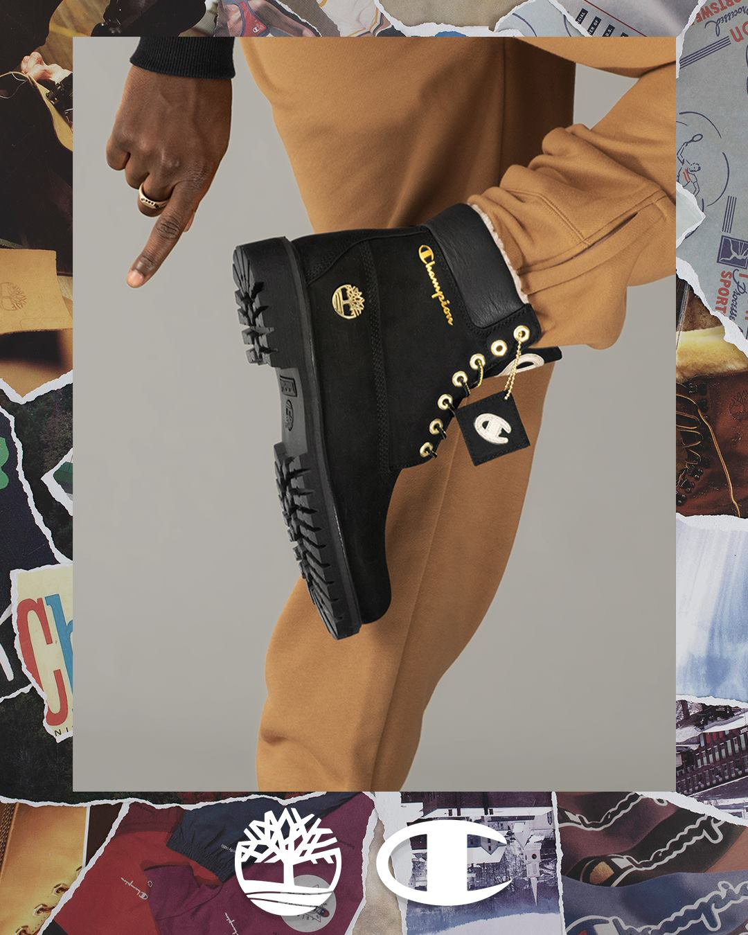 Champion x Timberland Boots and