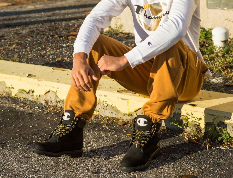 667acd640bb Champion x Timberland Boots and Clothing