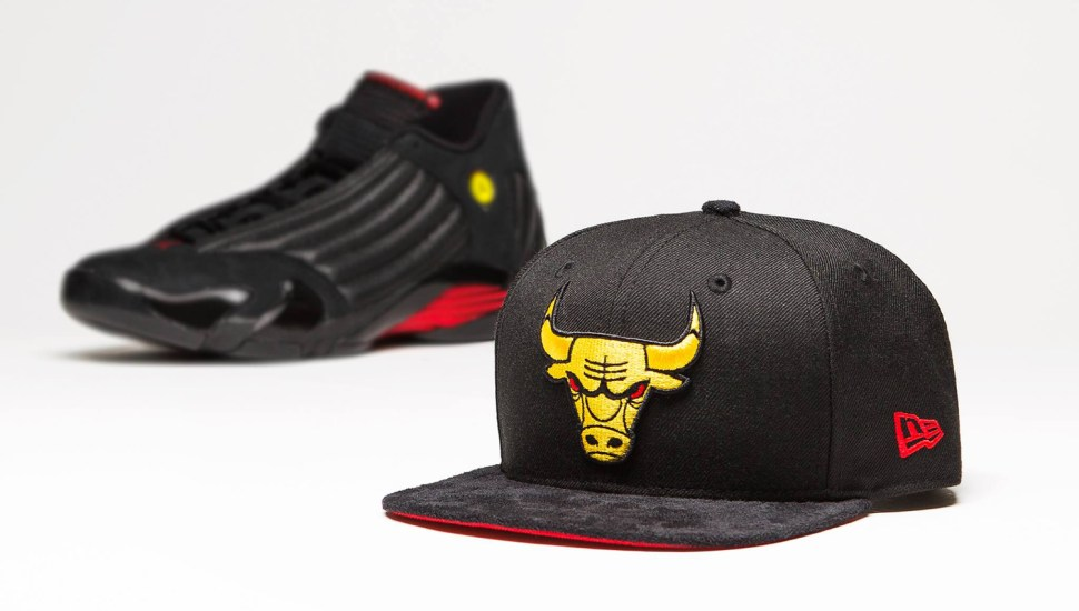 be07ebf5798 Jordan 14 Last Shot Bulls New Era Hat match | SportFits.com