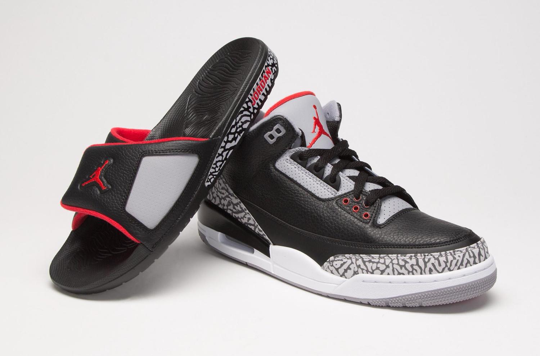 jordan-3-black-cement-slide-sandals