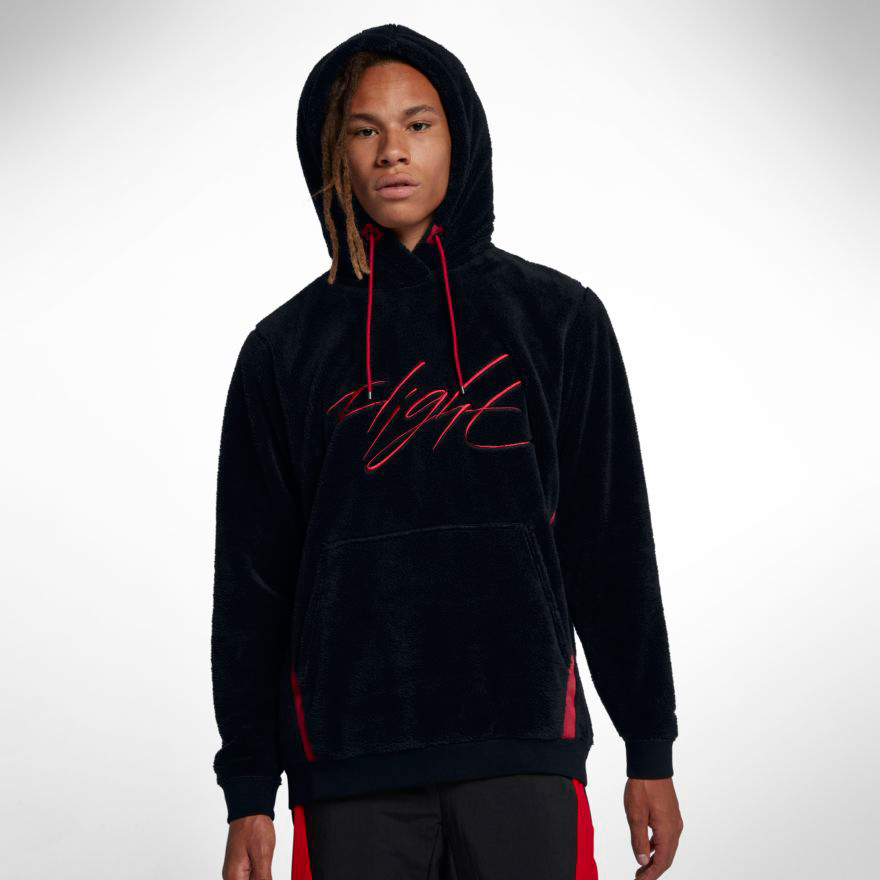 Nike Air Jordan Wings Of Flight Sherpa Fleece Hoodie Size XL