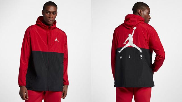 Nike Air Jordan Jumpman Windbreaker Jacket Red Black White