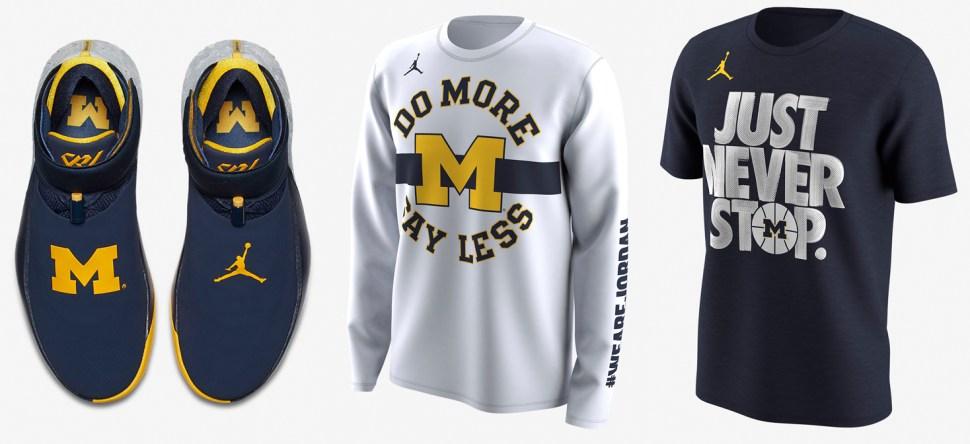 Michigan Jordan Gear >> Jordan Why Not Zero1 Michigan And Shirts To Match