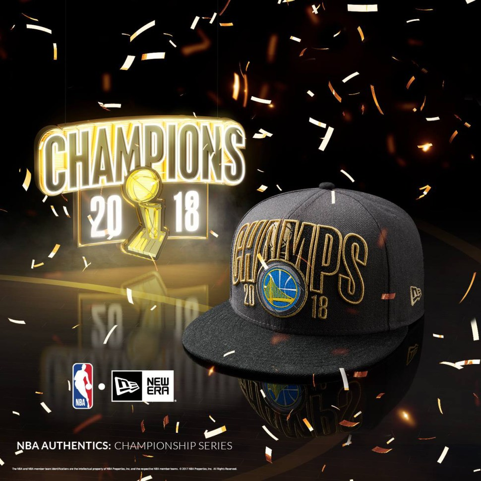 0d210a5a8a1 Golden State Warriors New Era 2018 NBA Finals Champions Hats ...
