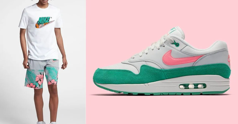 9c9c6baf8df9 Nike Air Max 1 Watermelon South Beach Clothing to Match