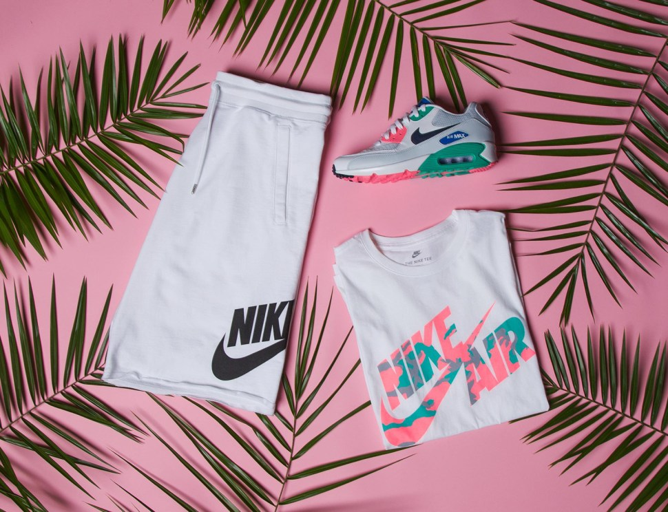 f83fb13bd83 Nike Air Max 90 Summer Sea Shirt Short Match