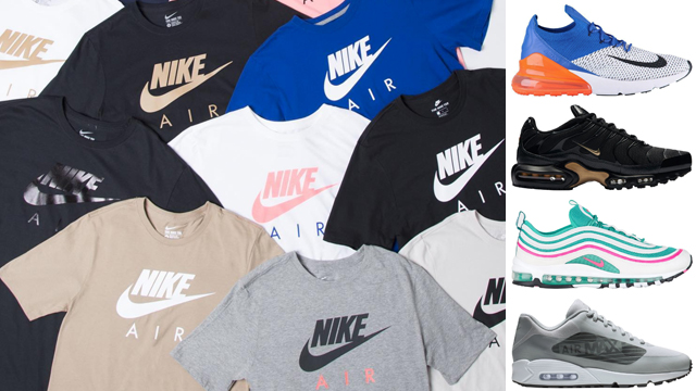 beefed1318e Step into Air Max Day in a new tee to match your Nike Air Max sneakers with  these Nike Air Logo T-Shirts that are available at Champs Sports. New from  the ...