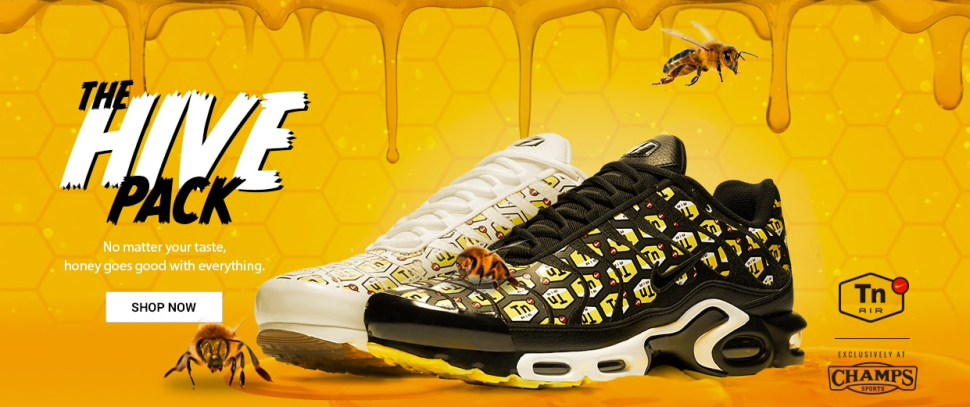 9a1ba80b23ad2 Nike Air Max Plus Hive Sneaker Pack