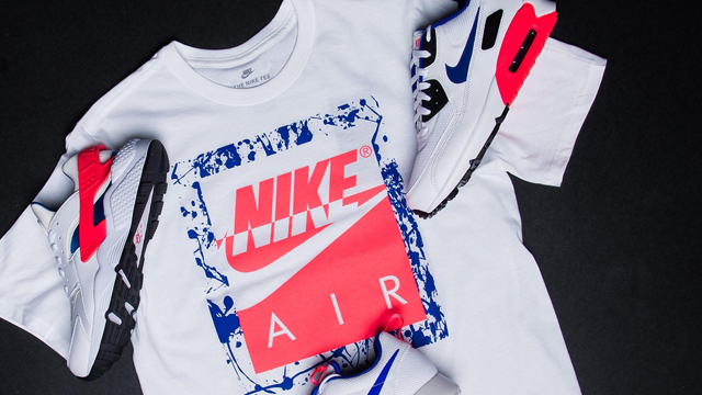 50635eaba ... Champs Sports has put together the Nike Sportswear Ultramarine Pack  including a few classic sneakers plus the Nike Boxed Air T-Shirt to match.