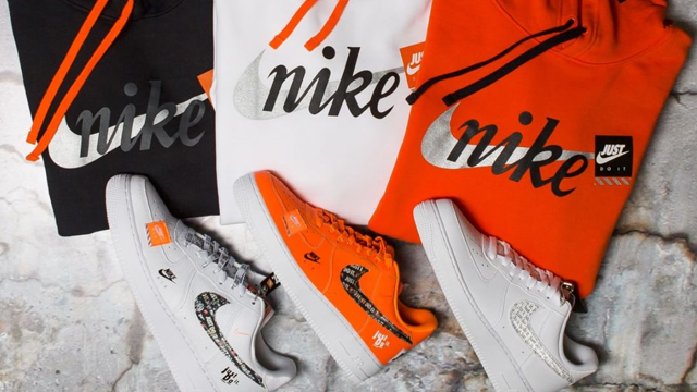 """new style e00e9 01a9e Nike Air Force 1 """"Just Do It"""" Sneakers + Nike JDI Club """"Just Do It""""  Pullover Hoodies"""