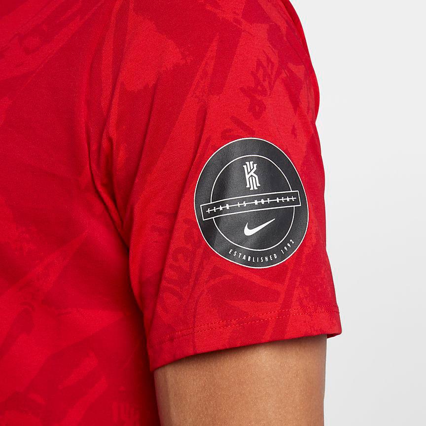 3a2a3d9d Nike Kyrie 4 Printed T Shirt | SportFits.com
