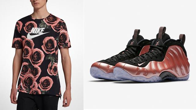 "56b770447176 Nike Air Foamposite One ""Rust Pink"" + Nike Sportswear Rose Printed T-Shirt"