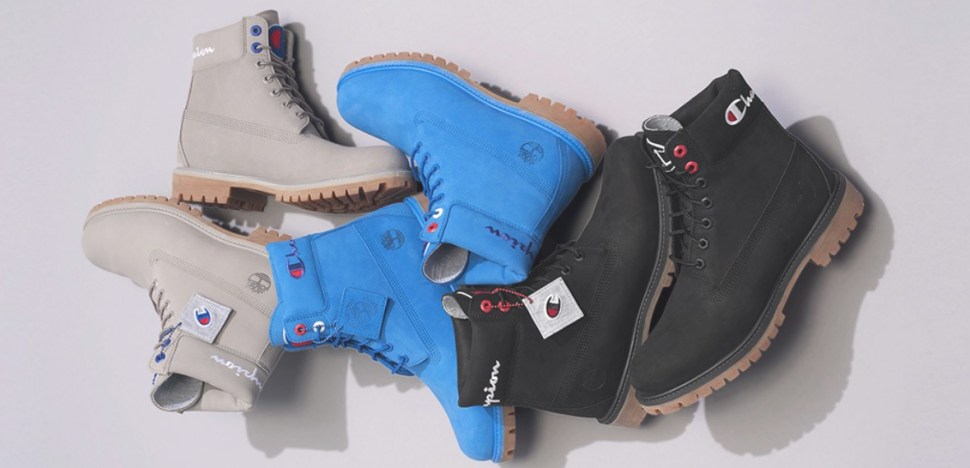 e9feaa69f9e Timberland Champion Boots in Blue Grey Black