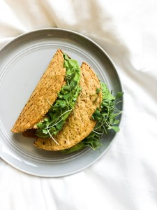 Two Tacos on Plate