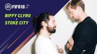 Футболисты «Сток Сити» сыграли в FIFA 18 с рок-группой Biffy Clyro