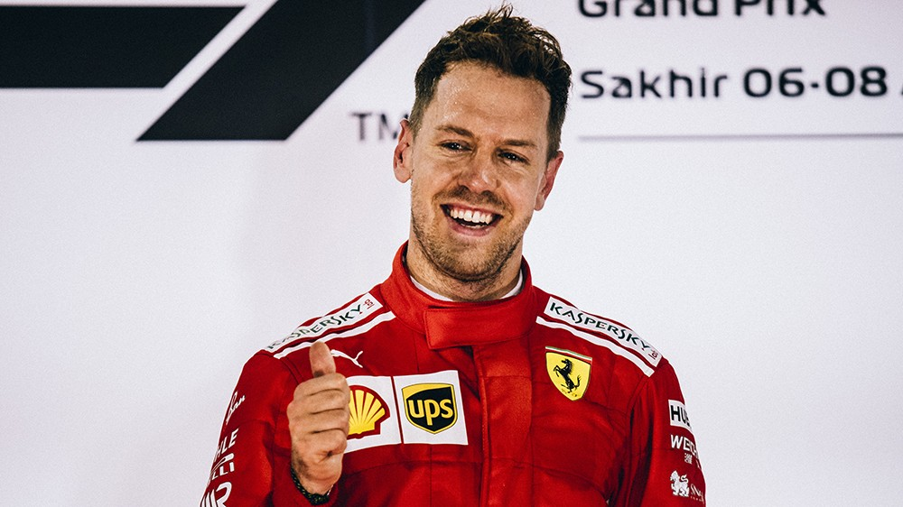 Vettel podium Sakhir