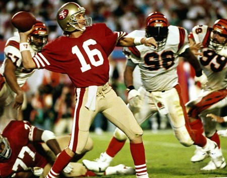 Joe Montana e1296562055456 The History of the Super Bowl in Pictures Part II
