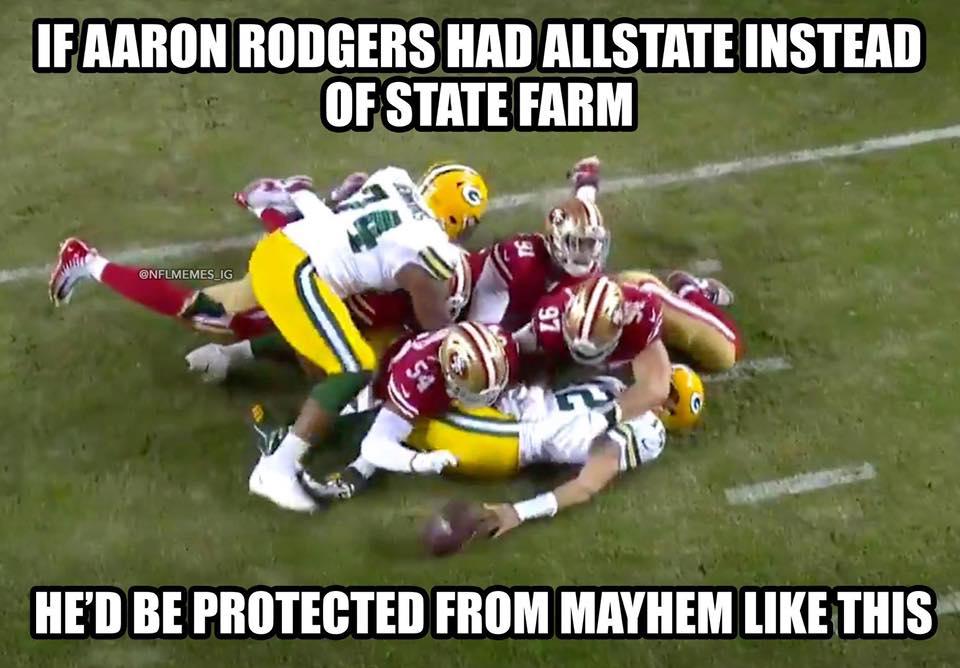 Rodgers Vs Mayhem Funny Meme Sportige