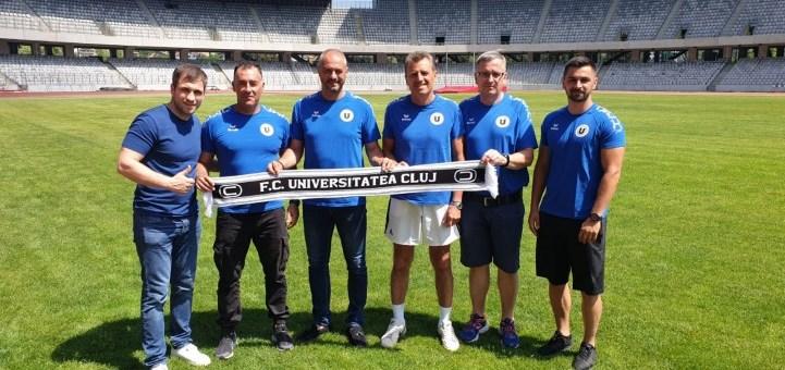 FC Universitatea Cluj are un nou staff tehnic