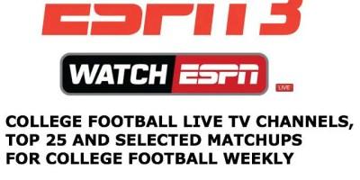 Live ESPN3 college football