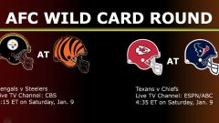 Watch Live AFC Wild Card Round NFL Game On Jan. 9