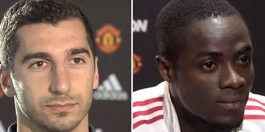 Henrikh Mkhitaryan and Eric Bailly: Manchester United