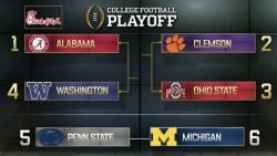Alabama, Clemson, Ohio State, Washington Selected For CFP