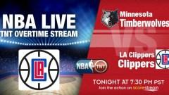 TNT Overtime NBA Live Stream: Clippers v Wolves on Jan. 19