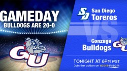 Watch No. 3 Gonzaga v San Diego on ESPN3