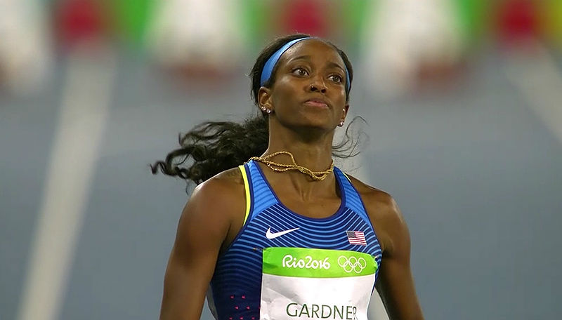 American sprinter English Gardner