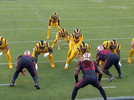 The Los Angele Rams v San Francisco 49ers