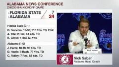 No. 1 Alabama Dominating Defense Stifles No. 3 Florida State In 24-7 Win