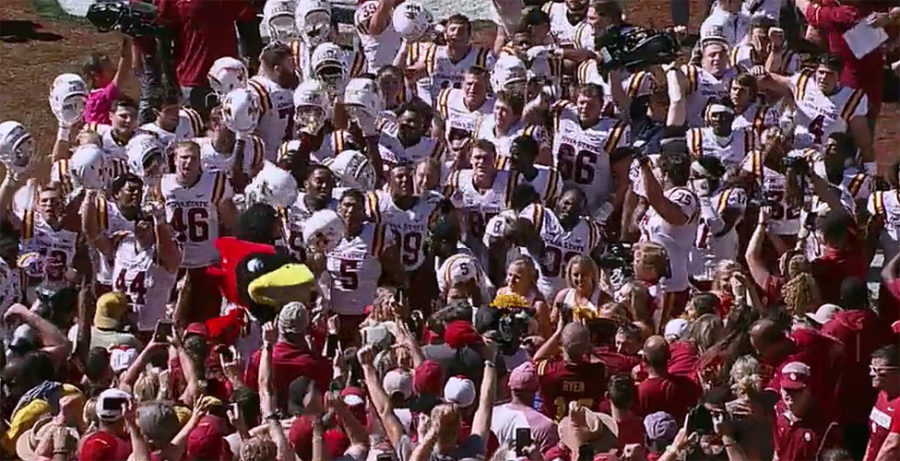 Iowa State shocks #3 Oklahoma 38-31