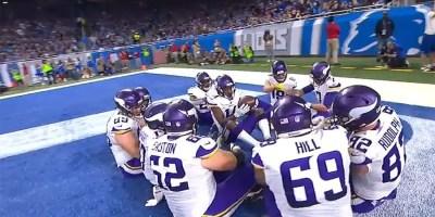 Minnesota Vikings on Thanksgiving Day TD