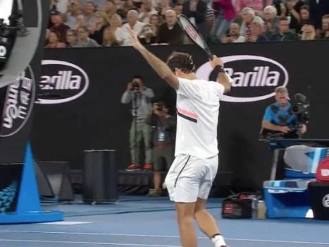Roger Federer at 2018 Australian Open