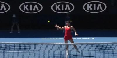 Simona Halep of Romania 2018 Australian Open