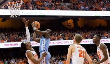 Pinson Drops 23pts, No. 10 North Carolina Beats Syracuse 78-74