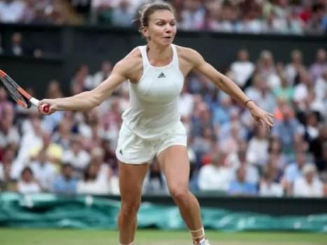 Simona Halep at Wimbledon 2018