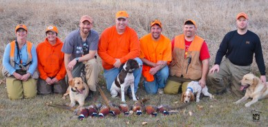 Bret along with hunters from Detroit Lakes and the Marshall area