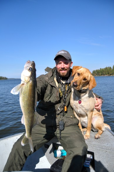 Chunky walleyes and goofy labs equal a good time